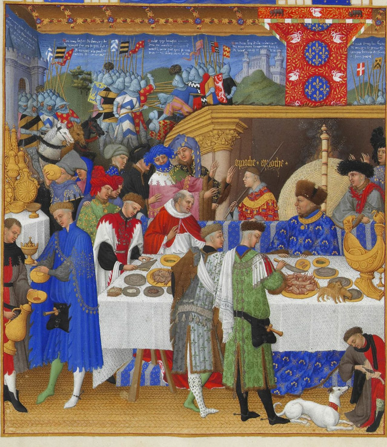 Courtiers feasting