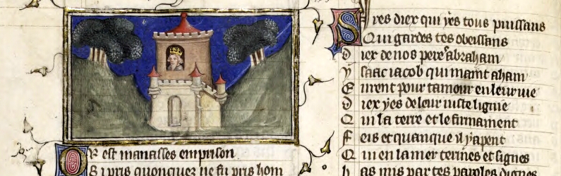Illumination of king in castle