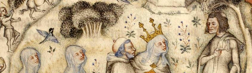 Picture of medieval figures outdoors