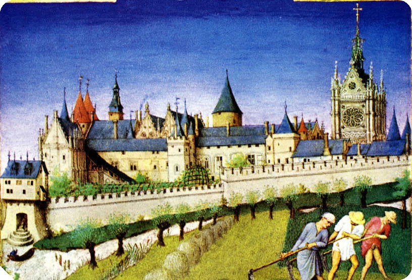 Medieval Illustration of Palais de la Cite