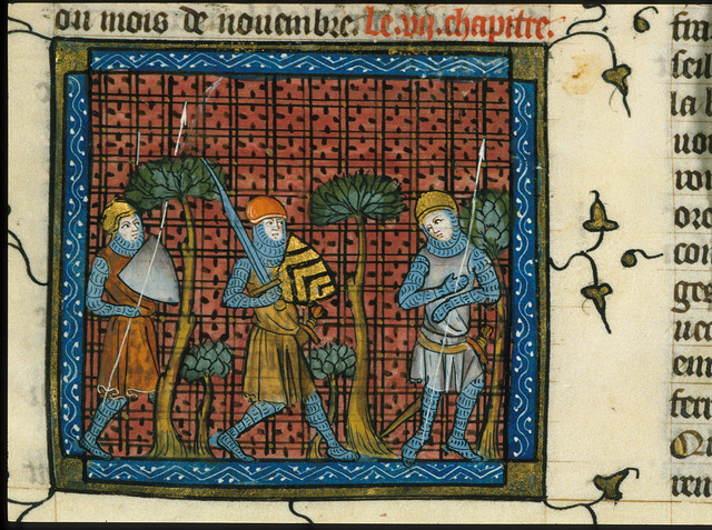 Crusading Knights in a Wood