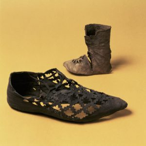 medieval lattice-work shoe