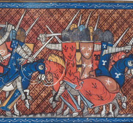Miniature showing an attack of the Tartars