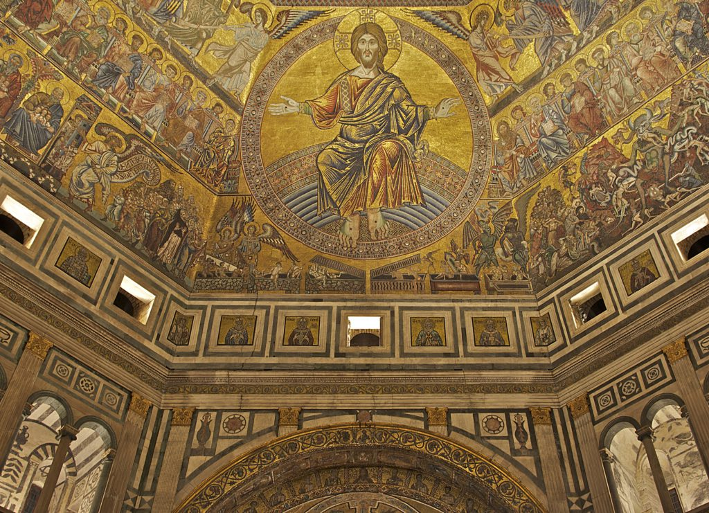 Roof of the baptistery San Giovanni