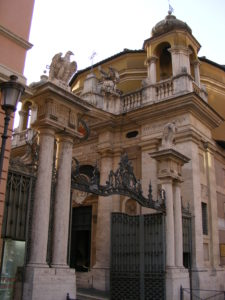 Elaborate gateway leading to the Vatican City
