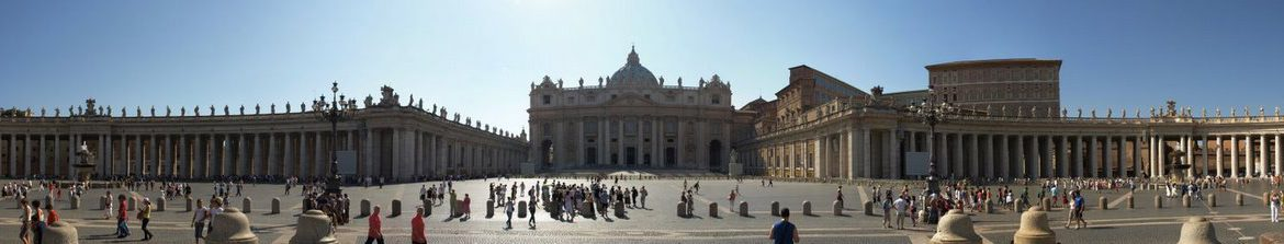A panorama of St Peter's Square
