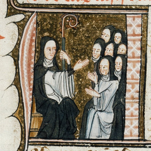 hildegard of beingen and a group of nuns