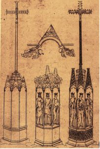 Sketch of French monumental crosses