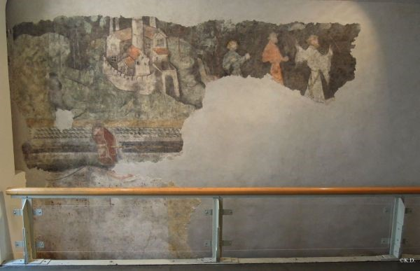 Scene of a courtly party at Runkelstein Castle