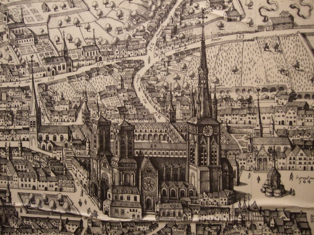 A 16thC engraving of the cathedral of Saint Lambert