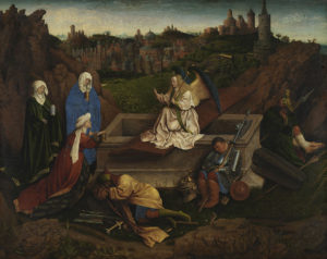 The Three Marys at the Tomb, attributed to Hubert van Eyck, c. 1410–20. Museum Boijmans Van Beuningen