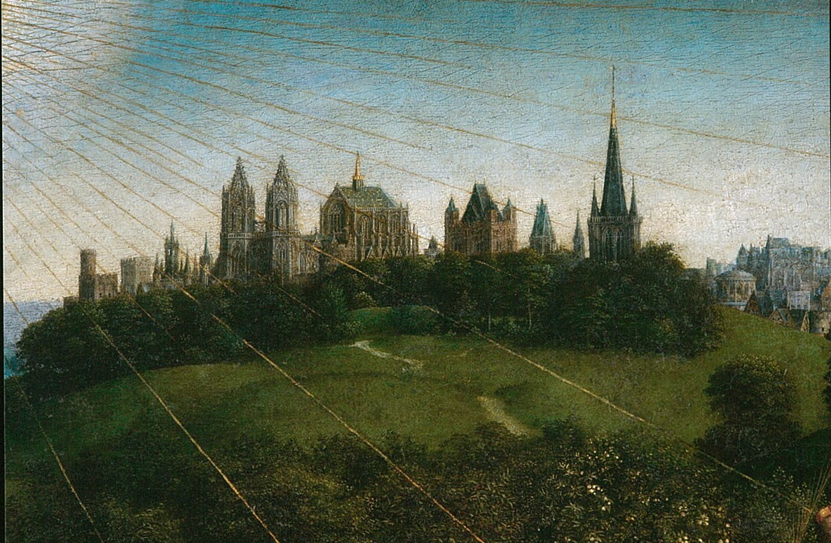 The skyline of the Ghent altarpiece