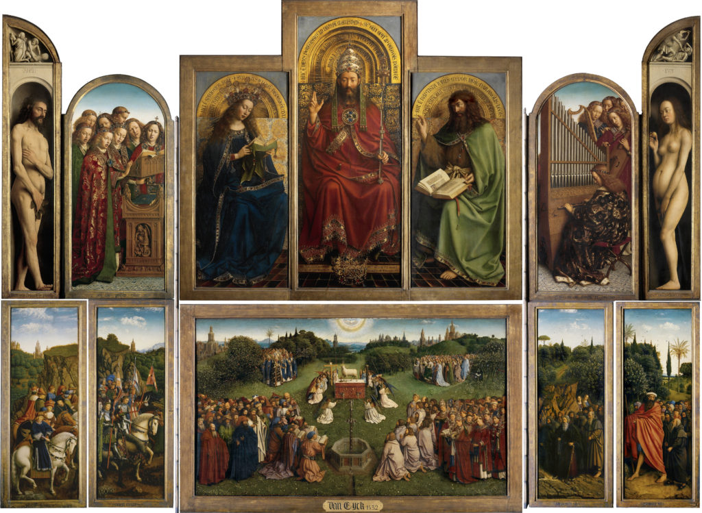 The Ghent altarpiece open