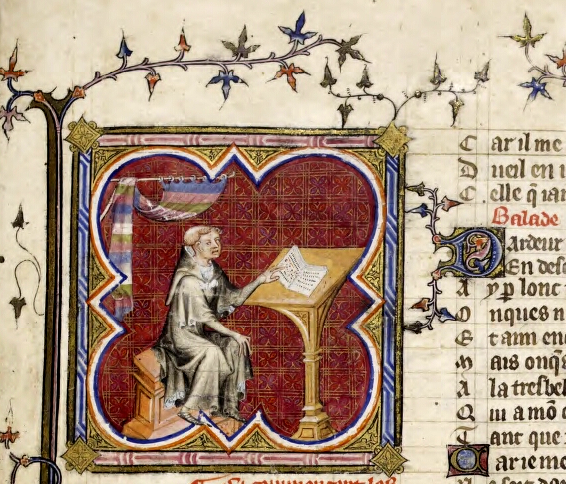 Scribe at a writing desk