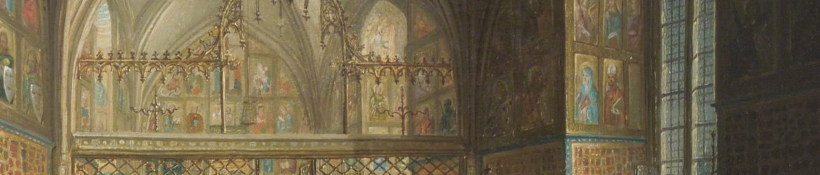 The Chapel of the Holy Cross, paining by Ludvik Kohl