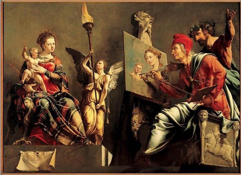 St Luke paints the Madonna and Child