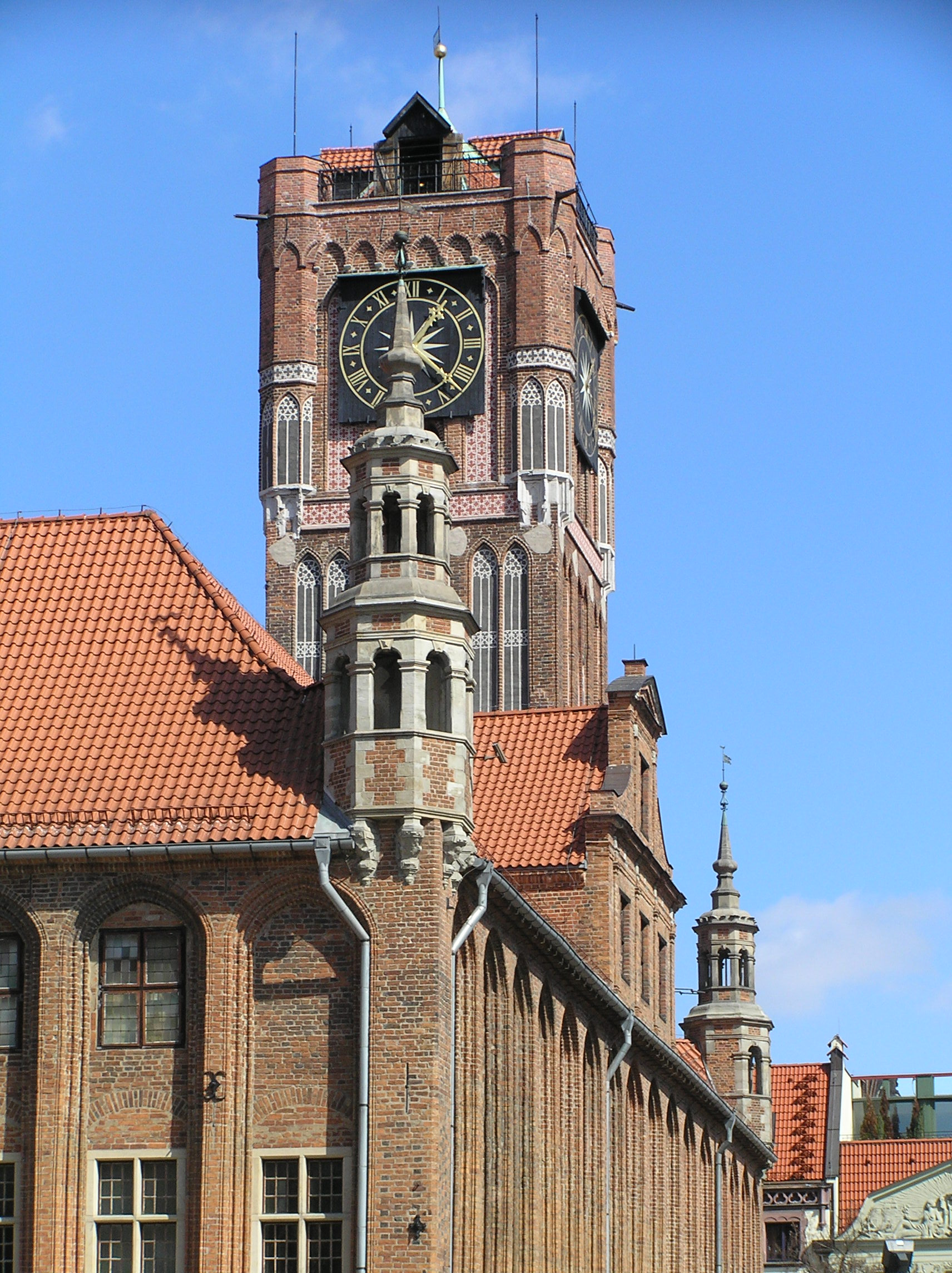 Ornate tower of town hall