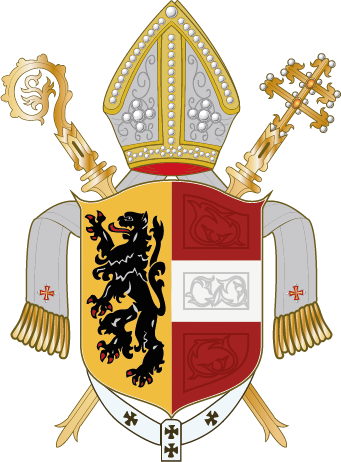 coat of arms with mitre and crozier