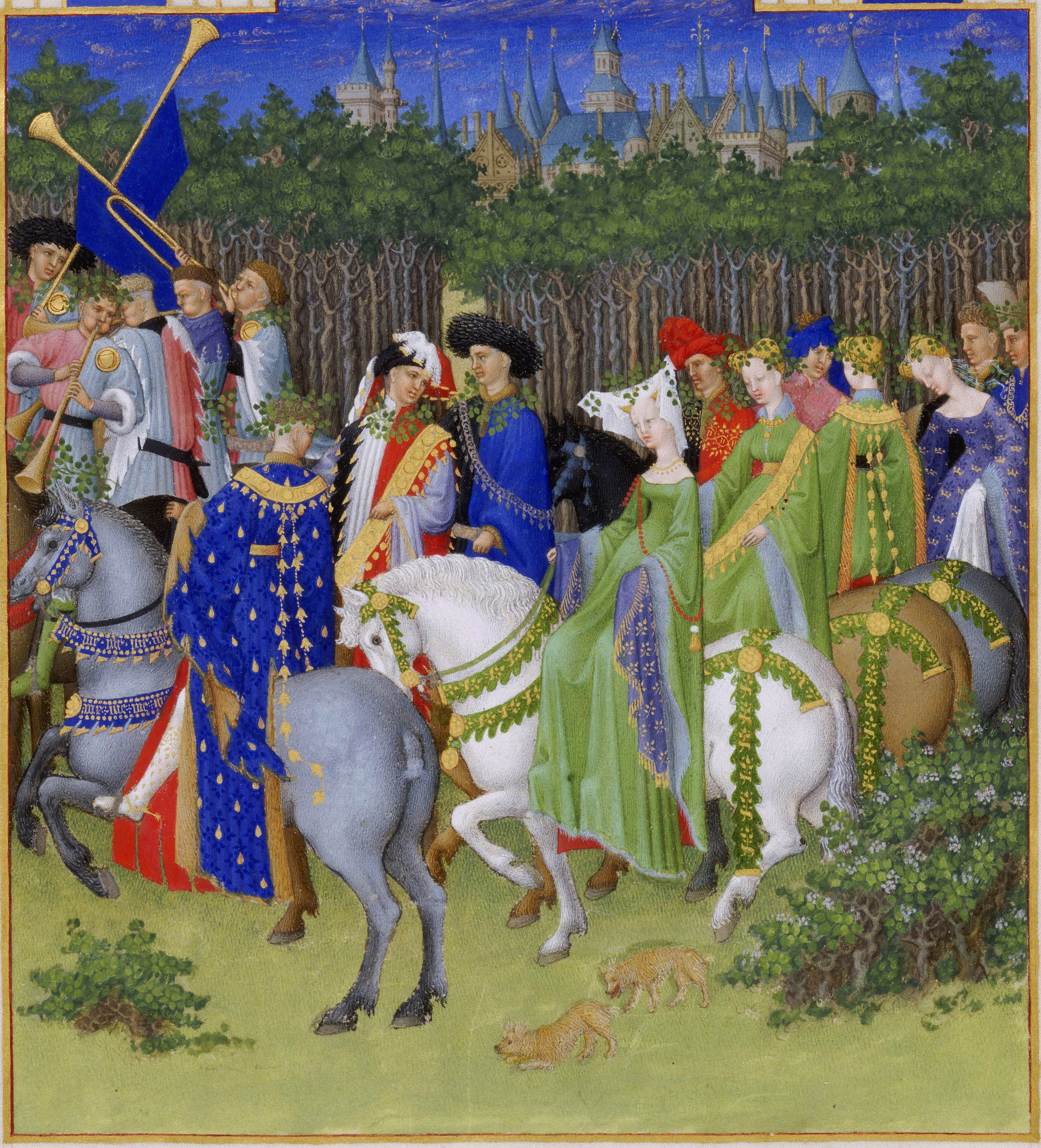 May. A group of courtiers go hunting