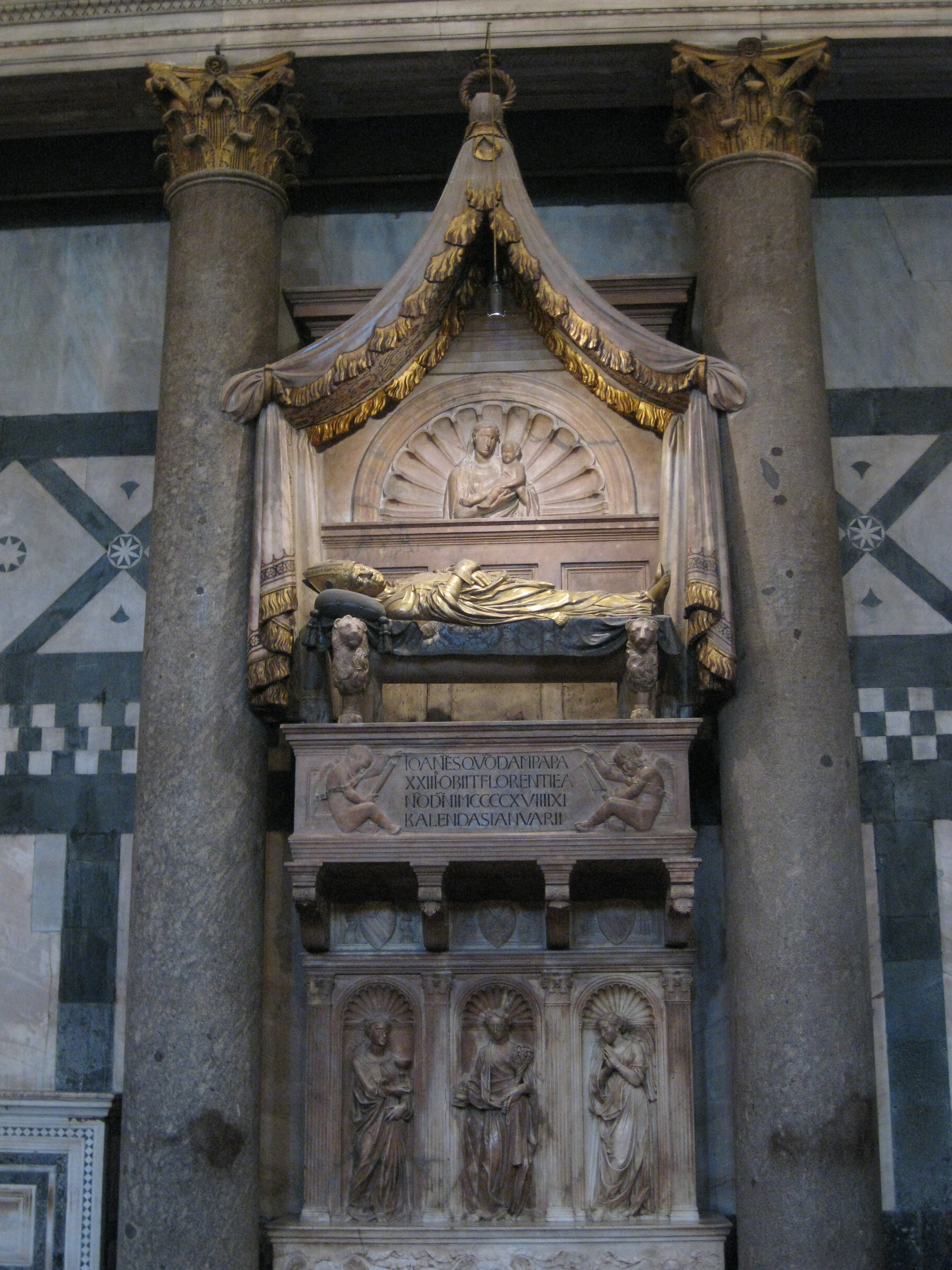 The tomb of antipope John XXIII