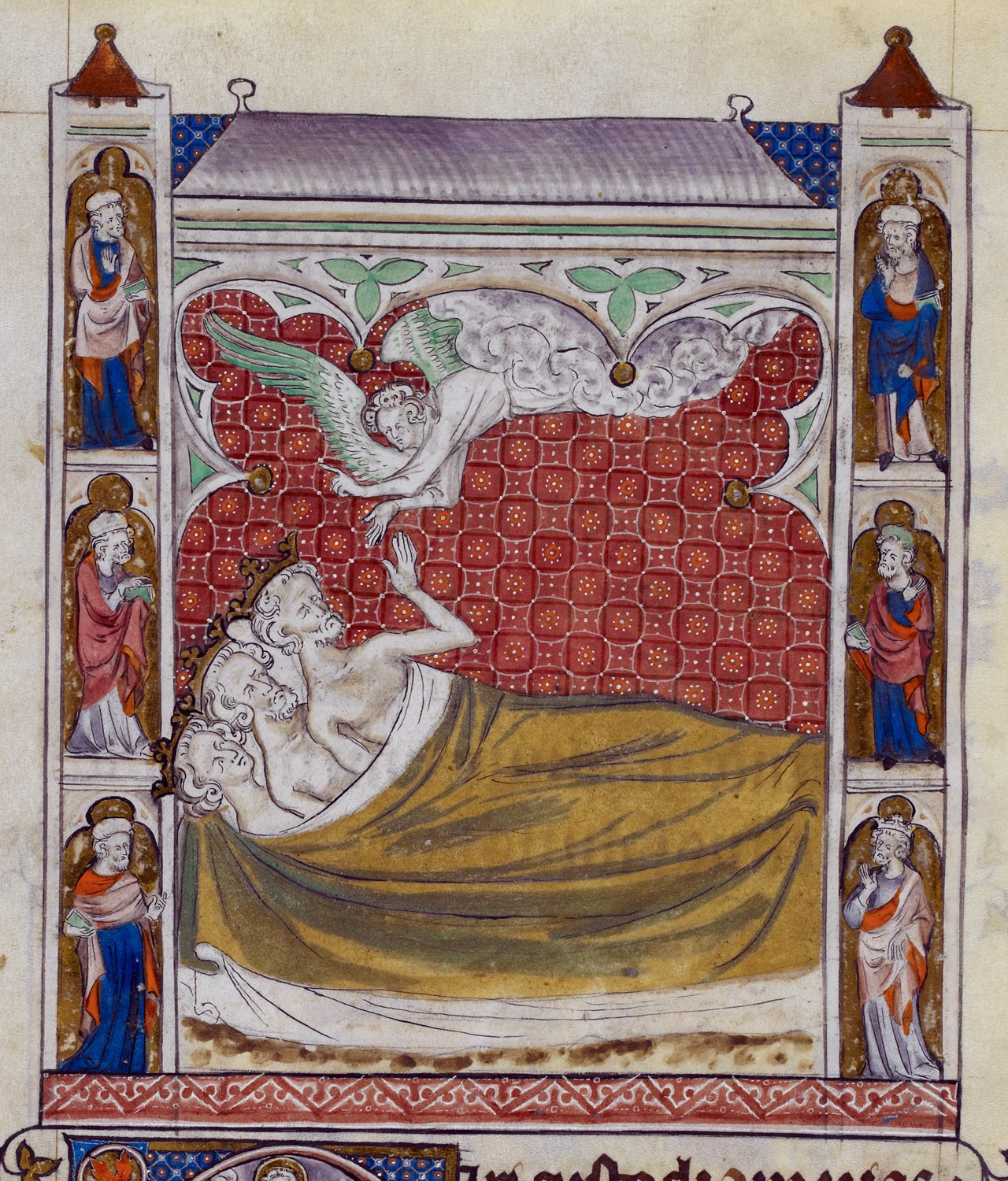 The three Magi share a bed, and are visited by an angel