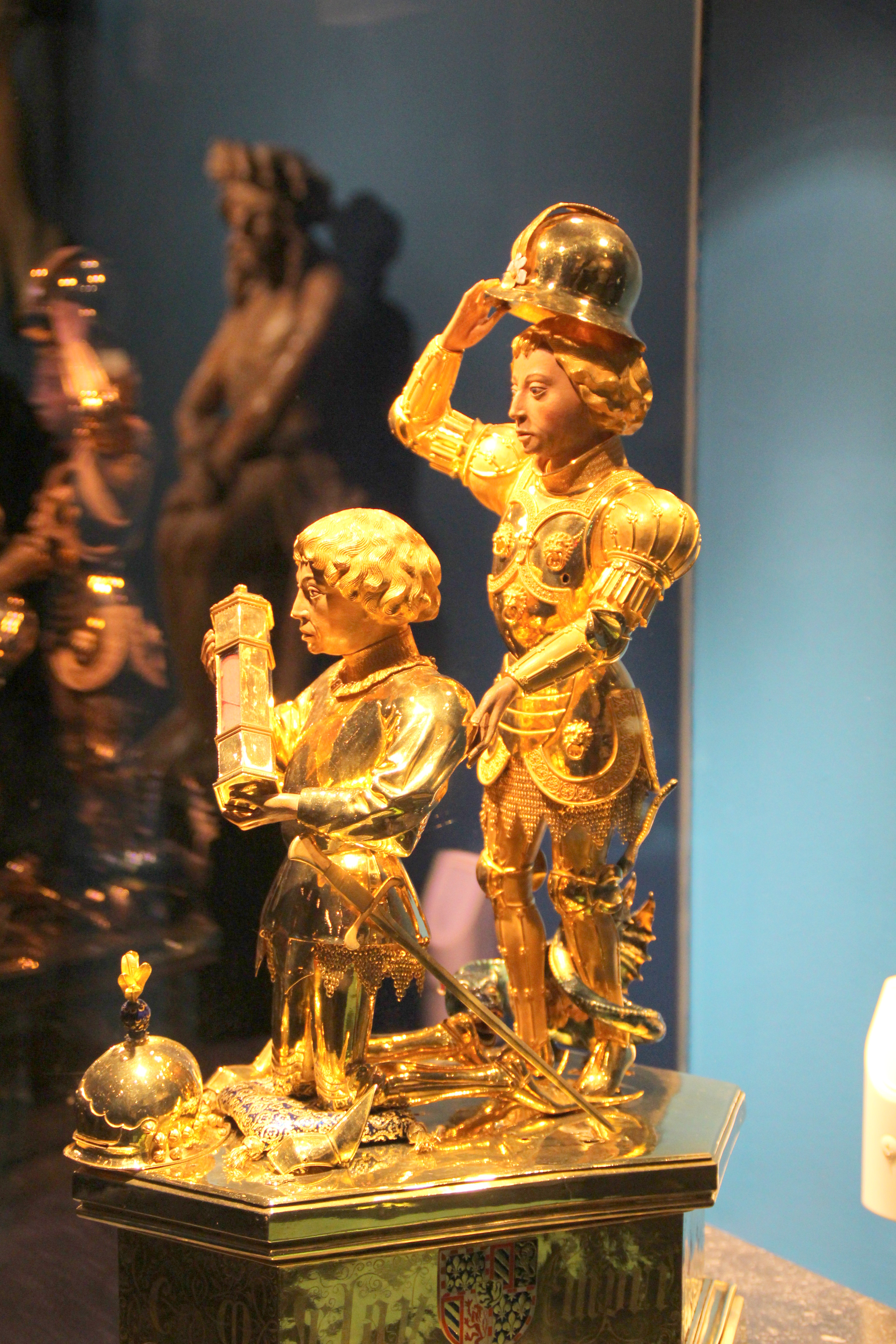 Gold statue of Charles the Bold