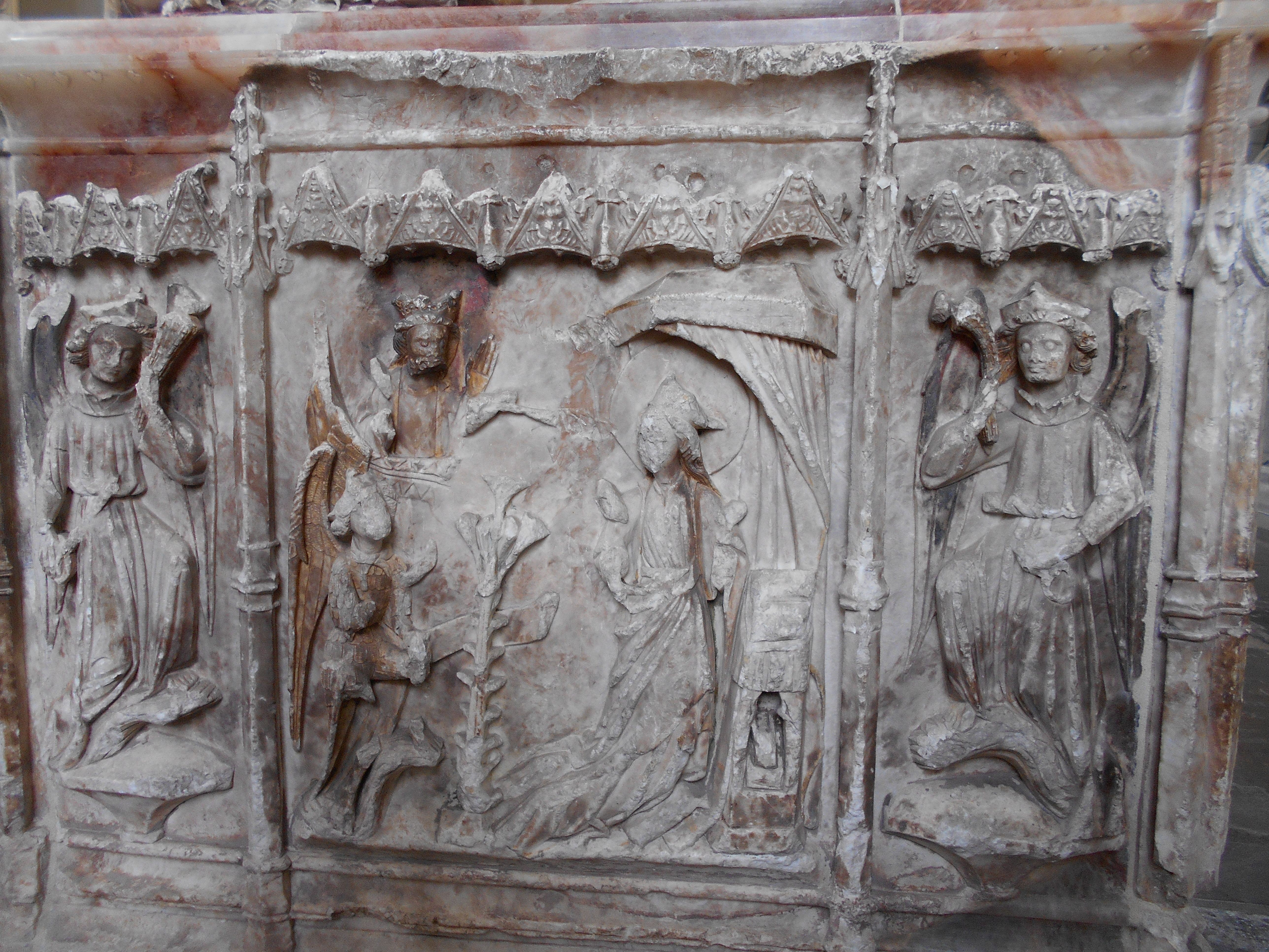 Carving of the annunciation
