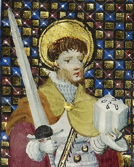 Gilded illumination from the prayerbook of Mary of Guelders