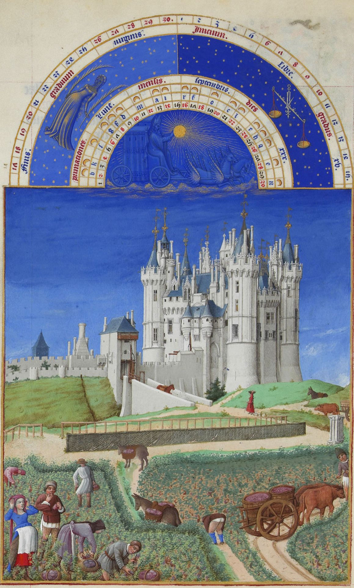 Illumination of a castle in September