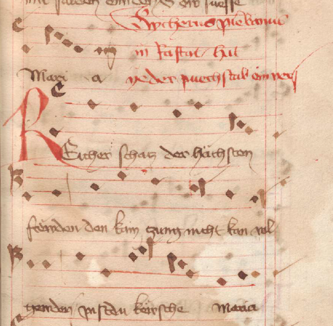 A score of a German religious song